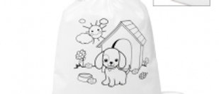Children's colouring drawstring bag