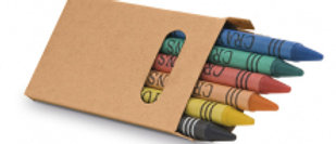 Box with 6 crayon