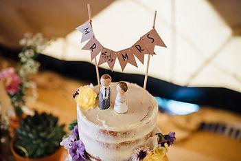 Rustic weddig cake
