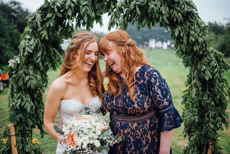 Fun and colourful wedding photographer M