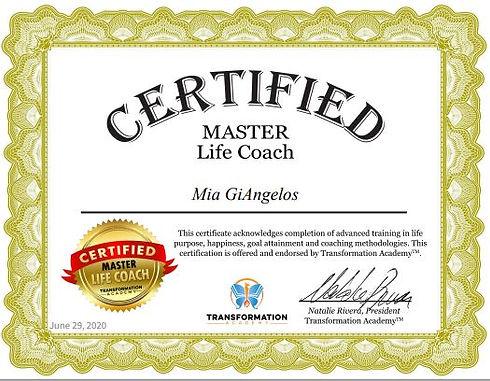 Certificate - Master Life Coach.JPG