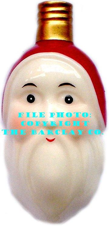 "#BC-012 - Old Time ""Milk Glass"" Christmas Light - Santa Face"