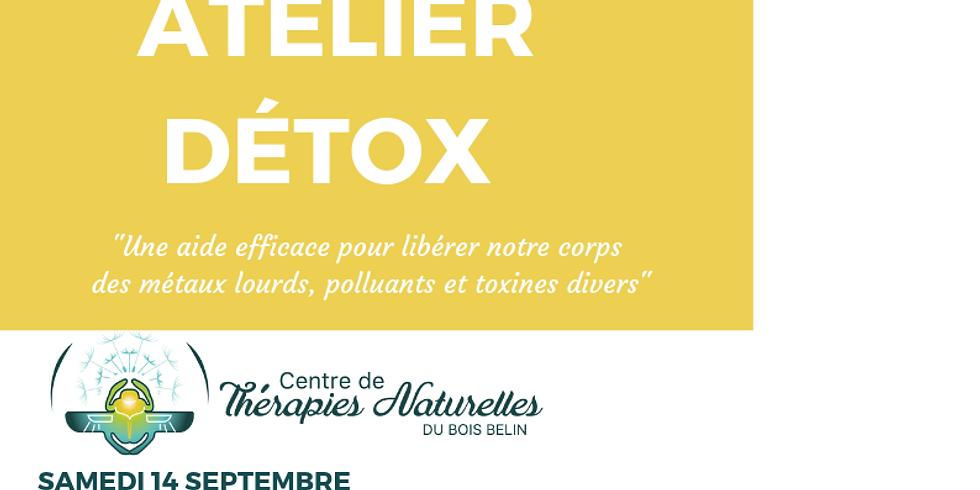 Atelier Détox le samedi 14 septembre avec Annie Bouchet pharmacien