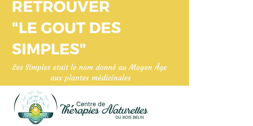 """Atelier d'été:retrouver """"le goût des Simples"""" mardi 20 août 18:30"""