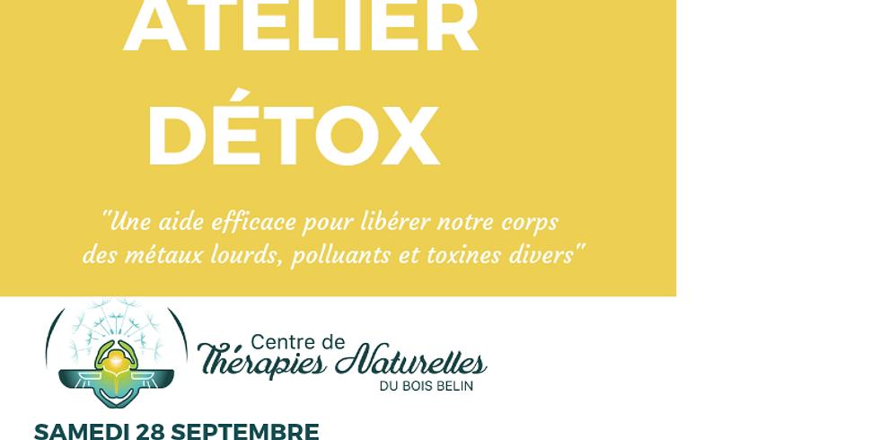 Atelier Détox le samedi 28 septembre avec Annie Bouchet pharmacien