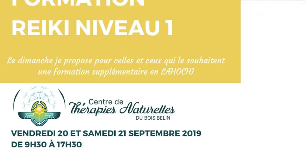 Formation Reiki Niveau 1 du 20 au 21 septembre 2019 avec Cendrine Cassiede