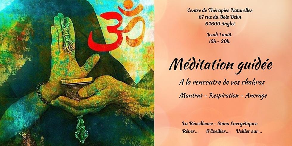 Méditation guidée le jeudi 1 août a 19:00 avec Virginie Mendez-Vaquero