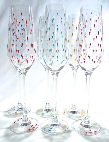 Flûtes cristal Rizière