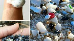 Pellets e microplástico no ambiente marinho