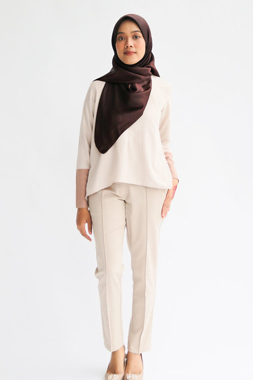 Riang Tapered Pants (Cream-Brown)