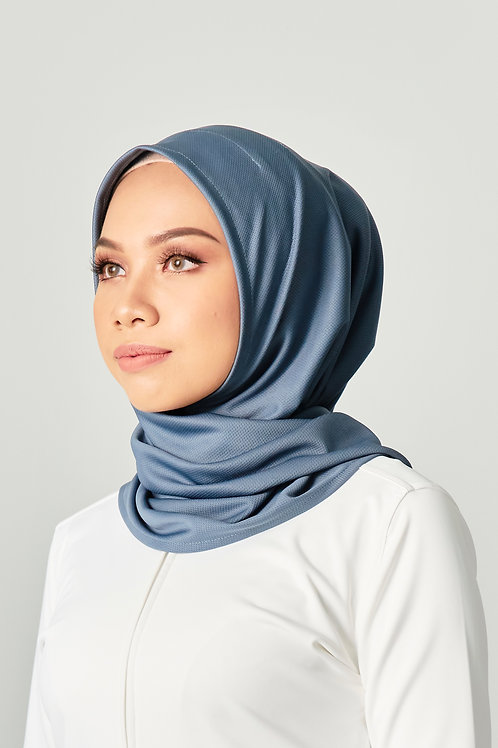 Active Performance Instant Scarf -Greyish Blue