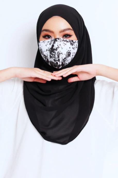 Face Mask Grunge Series (Black & White)