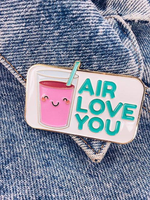 Food Pun Brooch: AIR LOVE YOU