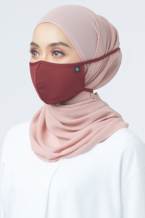 Face Mask Plain (Maroon)