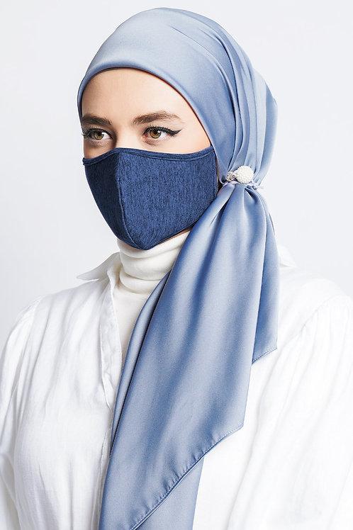 Face Mask Stripe (Steel Blue)