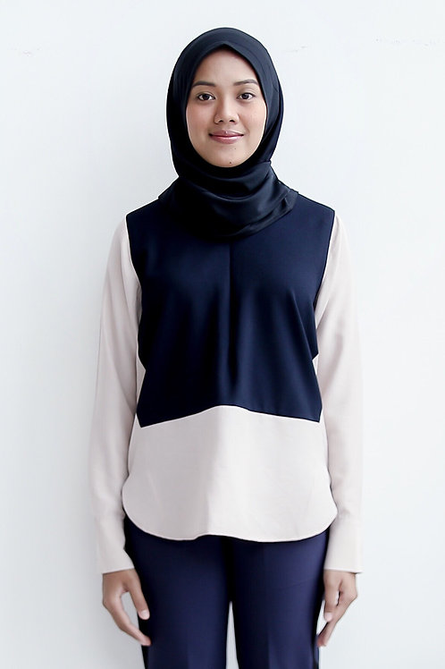 The Panel Top (Navy Blue)