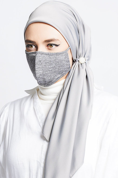 Face Mask Stripe (Meteor Grey)