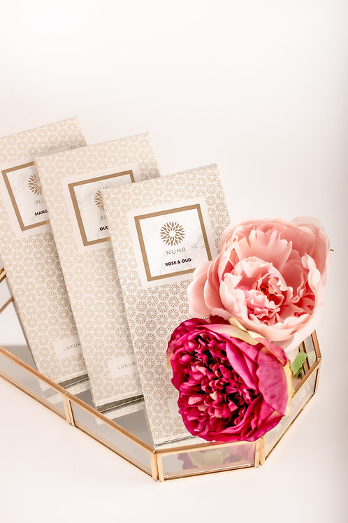 Rose & Oud Scent Cards (Pack of 3)