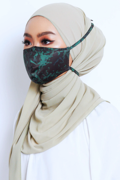 Face Mask Marble Series (Green)