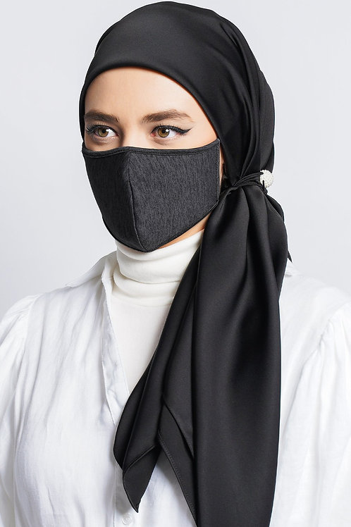 Face Mask Stripe (Black Opac)