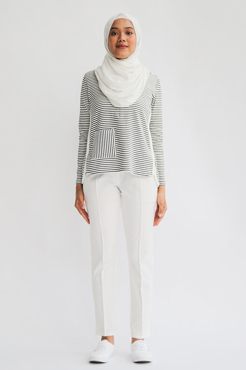 Riang Tapered Pants (White)