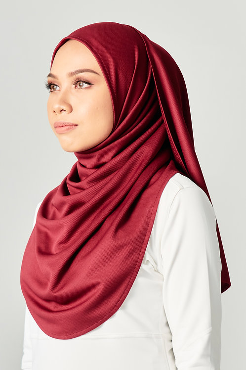 Active Performance Instant Shawl -Maroon