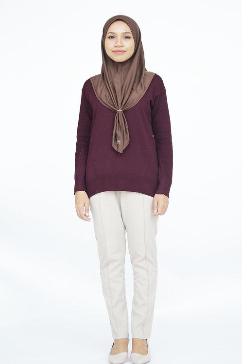 Khadījah Knit (Aubergine)