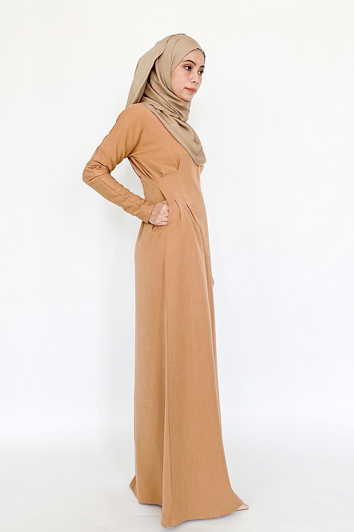 Faith Dress in Caramel