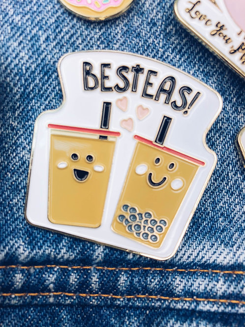 Food Pun Brooch: BEST-TEAS