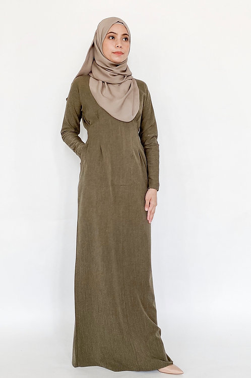 Faith Dress in Olive