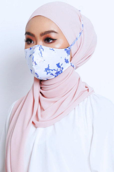 Face Mask Marble Series (Blue)
