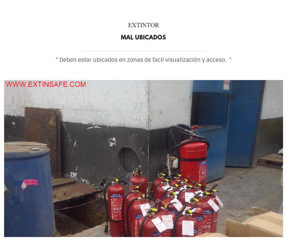MAL UBICADO, EXTINTORES