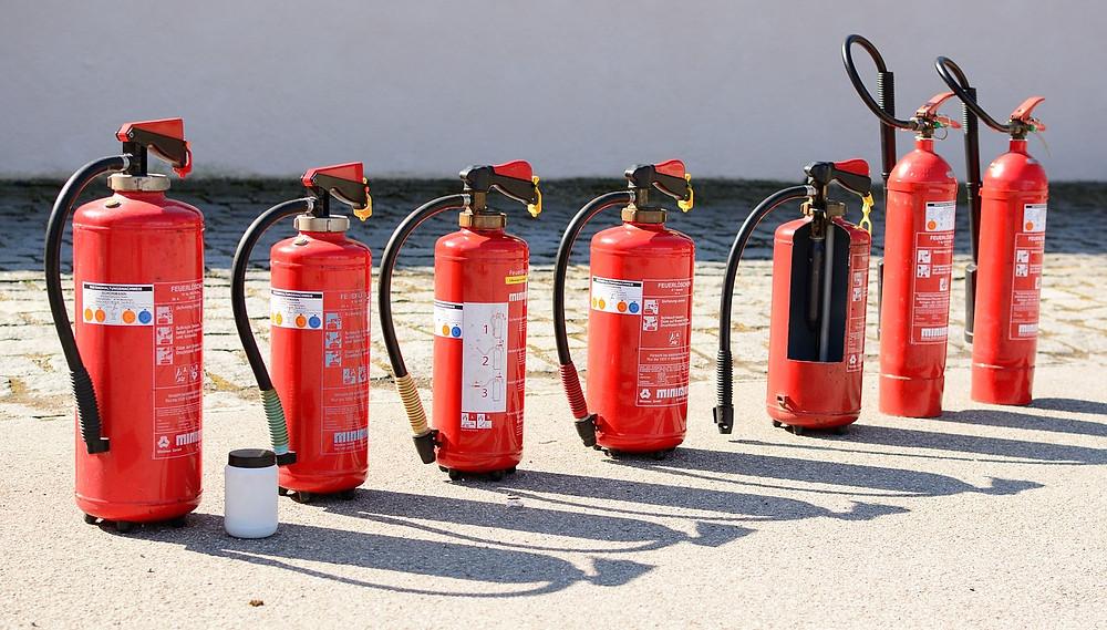 Distribucion e instalación de extintores