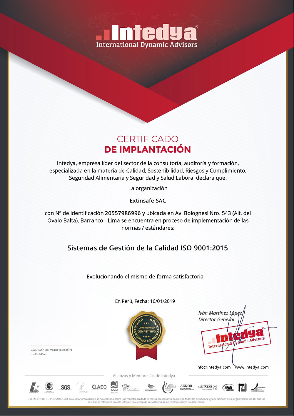 ISO 9001 EXTINTORES