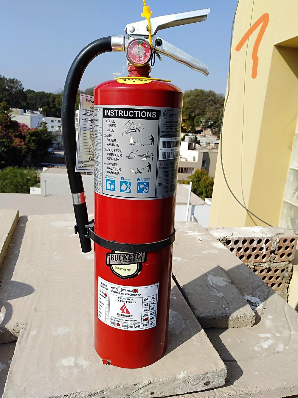 Inspección, extintores