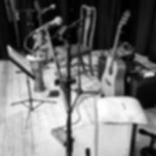 The Coaltown Daisies, guitar, cajon, djembe, mixing desk, PA, equipment, live music.