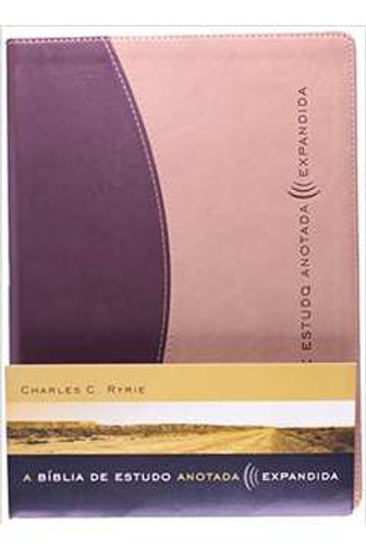 A Bíblia de estudo anotada expandida (Marrom/Bege)