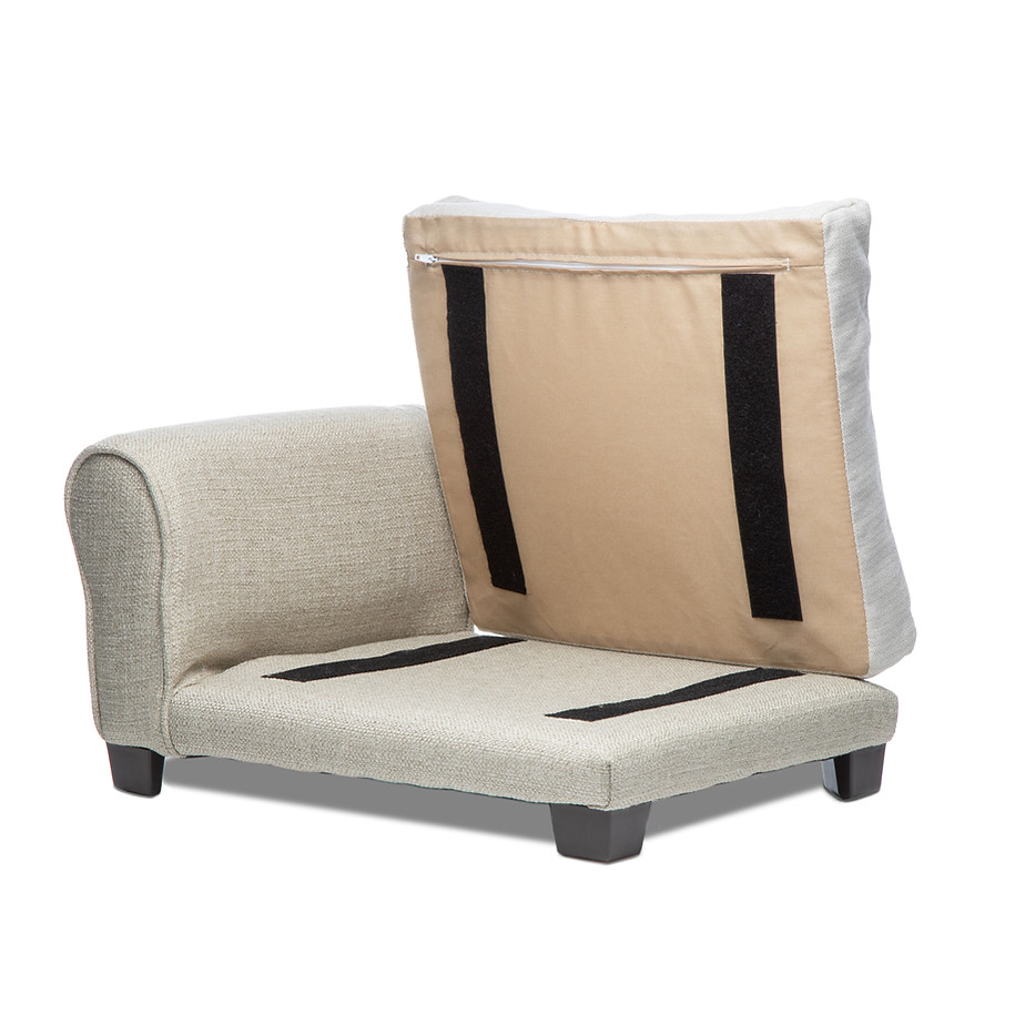 Removable Cushion Secured to The Body with Velcro