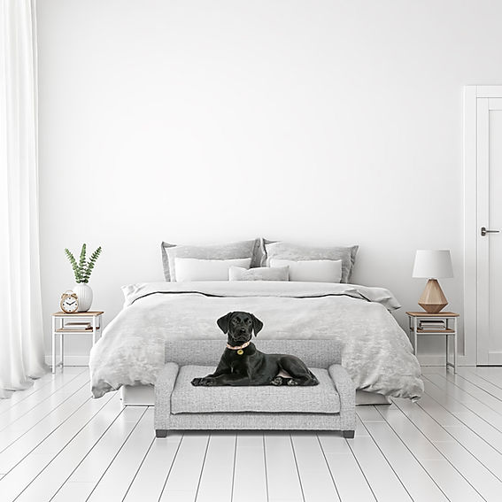 Club Nine Pets Metro Dog Bed in Gray