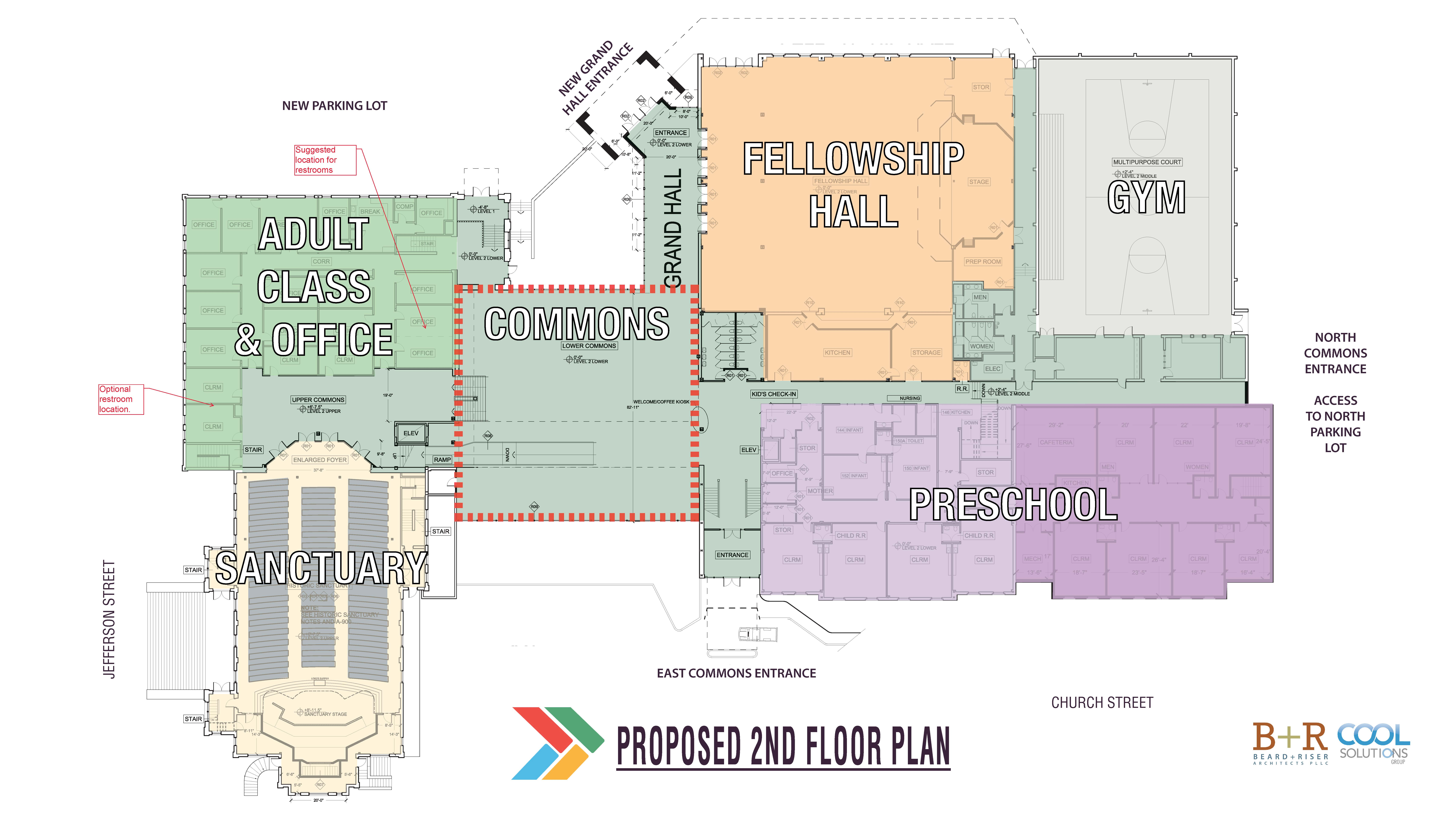 FBCT Second Floor Plan