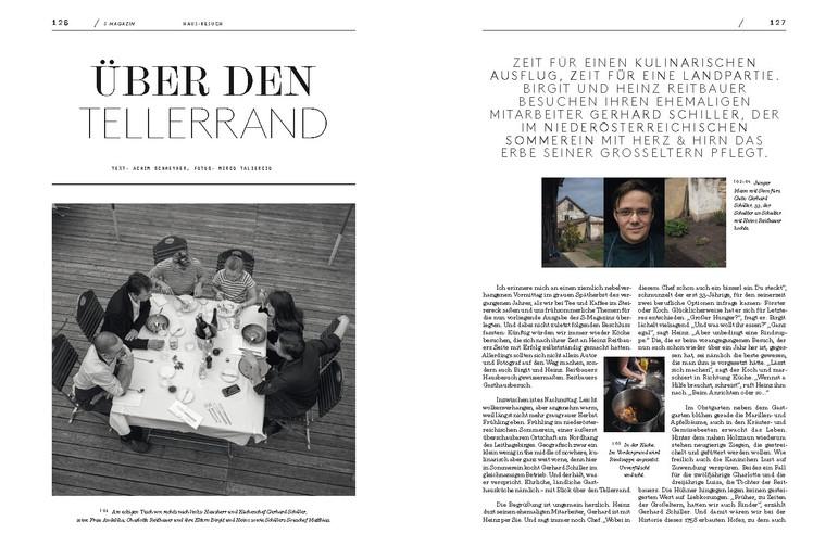Unterwegs für die 9. Ausgabe des S Magazins aus den Häusern Alba Communications und Steirereck im St