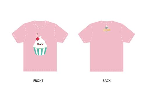 Pink Shirt - Ice Cream face
