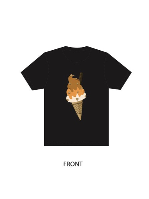 Black Shirt- Ice-Cream