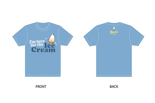 Blue Shirt - I'm here for the Ice Cream