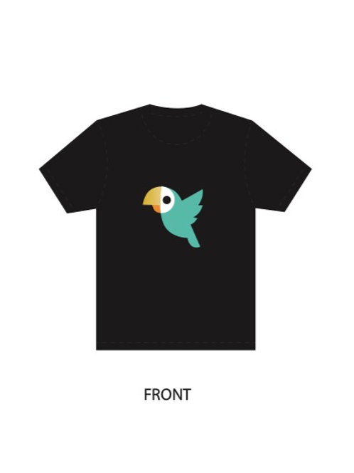 Black Shirt -  Retro Birdie