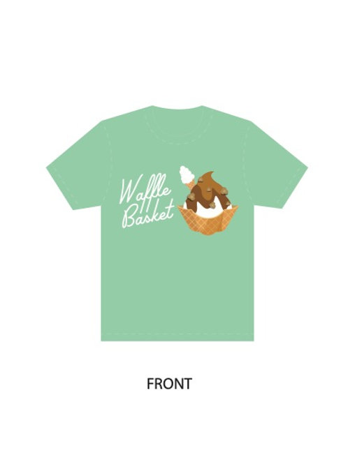 Mint Shirt - Waffle Basket