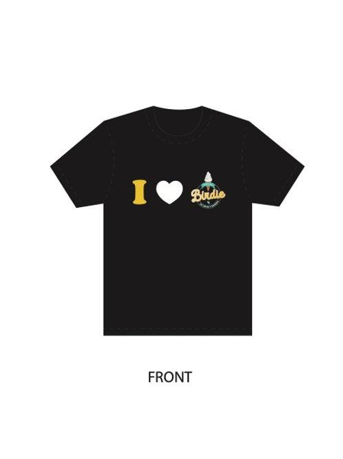 Black Shirt - I Love Retro Birdie
