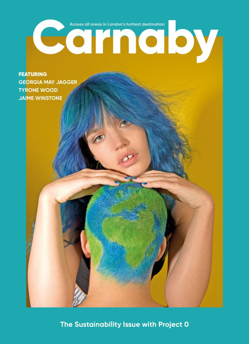 front page cover of Carnaby magazine featuring Georgia May Jagger