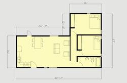 L Shape Module Floor Plan