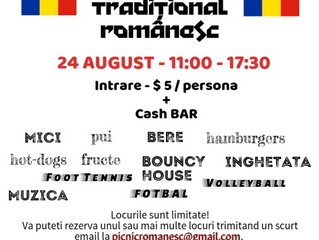Invitatie la Picnic - 24 August 2019